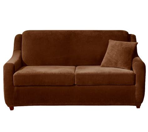 Sure Fit Sleeper Sofa Slipcover Sure Fit Strech Pearson 3 Sleeper Sofa Slipcover H361234 Qvc