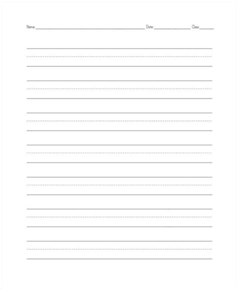 template writing paper elementary 26 sle lined paper templates free premium templates