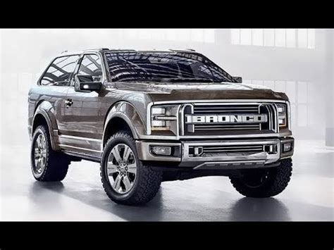 ford bronco truck suv expected prices release date usa youtube