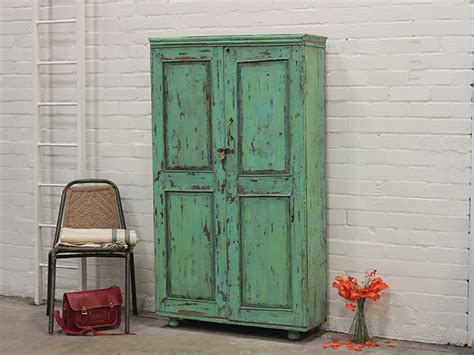 Distressed Armoire For Sale Vintage Green Distressed Armoire Sold Scaramanga