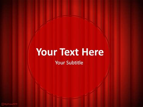 Free Curtain Powerpoint Template Download Free Show Powerpoint Template