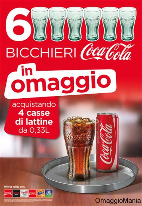 bicchieri coca cola bicchieri coca cola omaggio nei c c omaggiomania