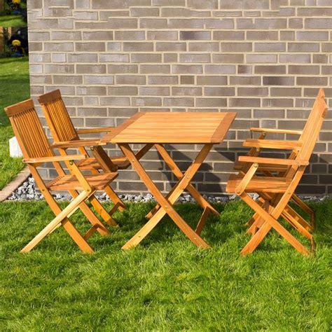 tavolo e sedie da giardino tavolo e sedie con braccioli da giardino in legno pieghevoli