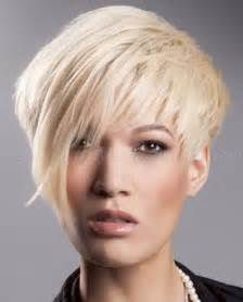 asymmetrical haircuts for 40 with har short hairstyles with long bangs short asymmetrical
