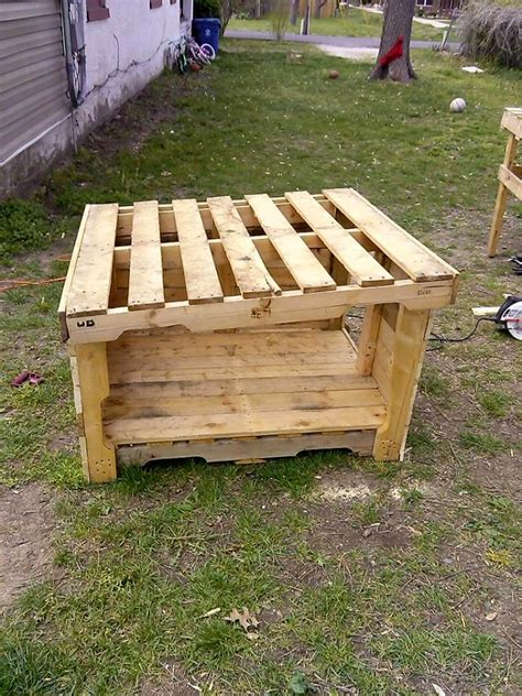 build dog house from pallets upcycled wood pallet dog house 101 pallets