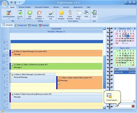orgscheduler pro a complete calendar and scheduling page 5 of personal information management software