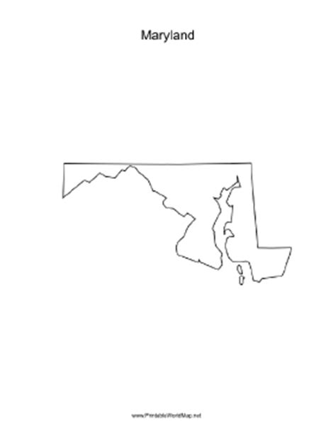maryland map blank maryland blank map