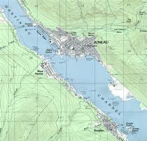 maps of juneau topographic city map alaska united states