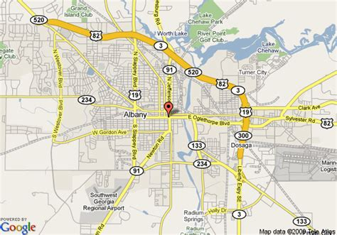 map of albany map of days inn albany albany