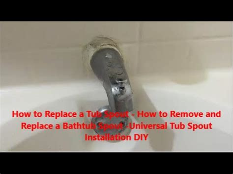 How To Remove A Bathtub Spout by How To Replace A Bathtub Diverter Spout How To Make Do