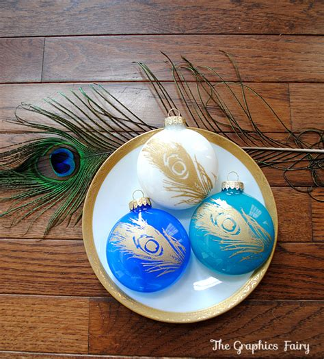 diy ornaments paint easy ideas painted peacock ornaments the graphics