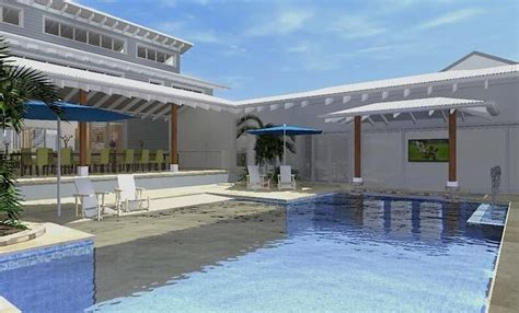 resort type house design architect design 3d concept resort house freshwater