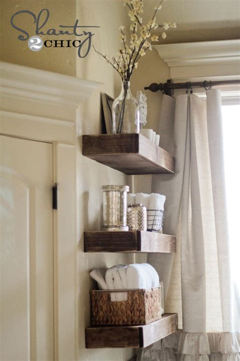easy diy floating shelves shanty 2 chic