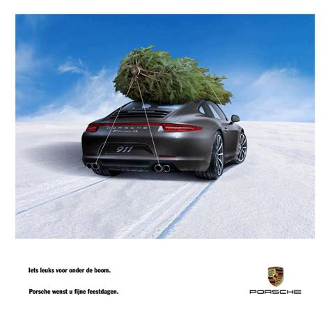 porsche christmas dutch ad for porsche line says quot something nice for under