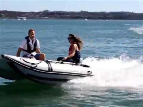 catamaran tender inflatable catamaran tender rib with 15hp yamaha youtube