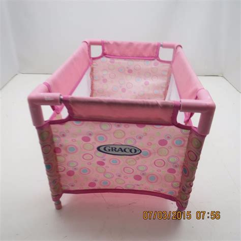 Graco Doll Crib graco baby doll playpen crib bed pink ebay