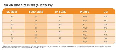 how to find the youth equivalent of s shoe sizes