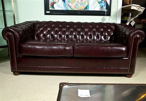 cordovan leather sofa cordovan leather chesterfield sofa at 1stdibs