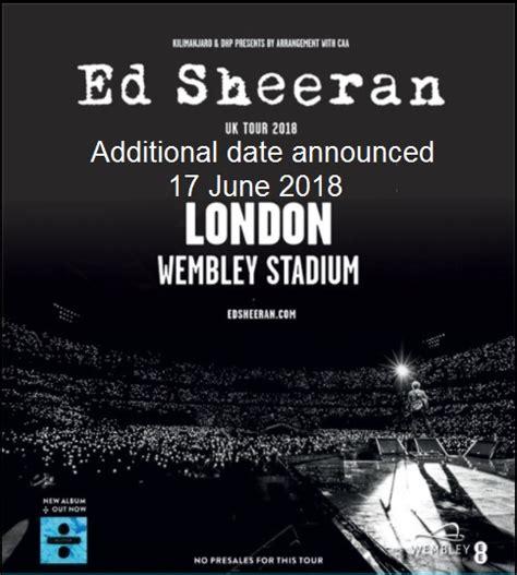 ed sheeran concert 2018 wembley stadium wembley international hotel