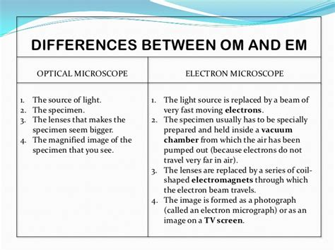 difference between l and light how are compound light microscopes and electron alike