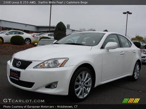 white lexus is 250 2008 starfire white pearl 2008 lexus is 250 awd