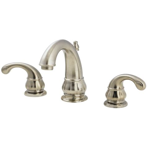 pfister bathroom faucet pfister treviso brushed nickel 2 handle widespread