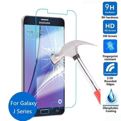 Tempered Glass Samsung J2 J3 J5 J7 Pro Prime Plus A3 A5 A7 2016 2017 8 cheapest 9h tempered glass screen protector protective