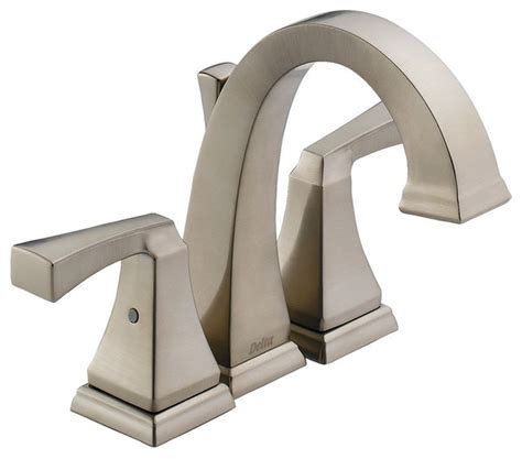 Delta Bathroom Fixtures Delta Dryden Mini Widespread Faucet Contemporary Bathroom Faucets And Showerheads By
