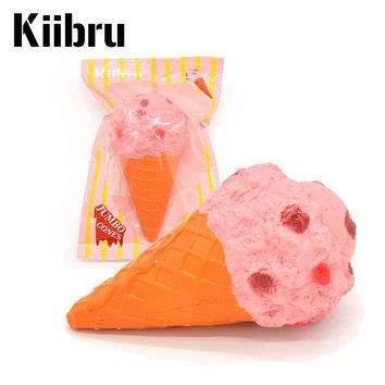 Squishy Kiibru Cone Pink Icecream Jumbo Soft Rising shop kawaii squishy on wanelo