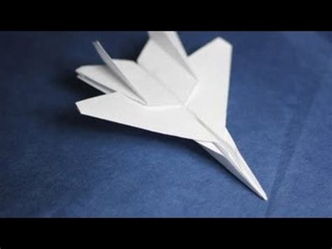 F16 Origami - how to make an f15 eagle jet fighter paper plane