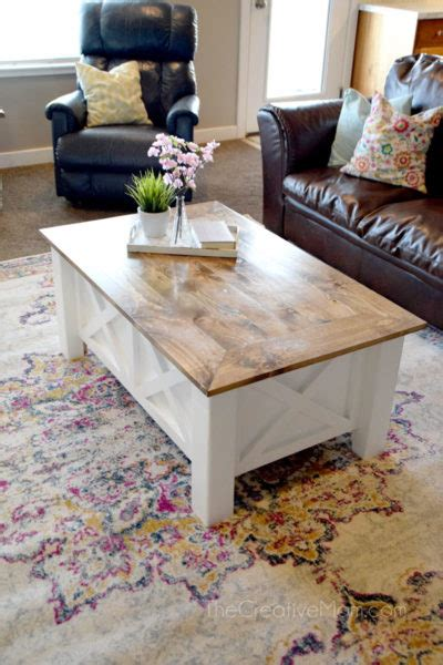 How To Build A Coffee Table With Storage How To Build A Farmhouse Coffee Table With Storage Free Building Plans The Creative