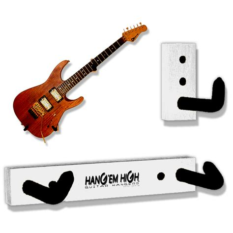 Guitar Rack Mount white angled guitar wall hanger for electric guitars and