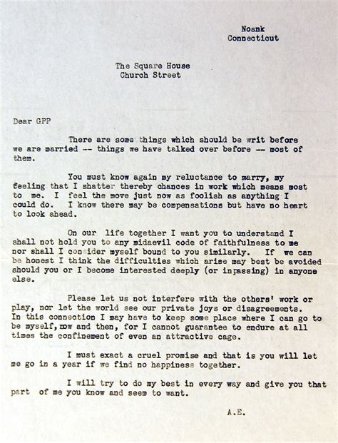 Letter To Fiance Before Wedding amelia earhart s prenup is remarkably modern photo