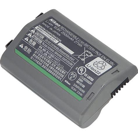 nikon en el 18c rechargeable lithium ion battery 27196 b h