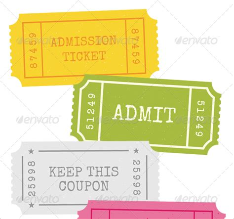 ticket templates 99 free word excel pdf psd eps