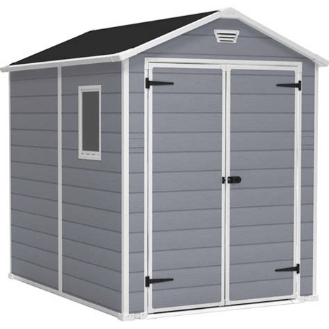 keter manor 6 x 8 storage shed gray walmart