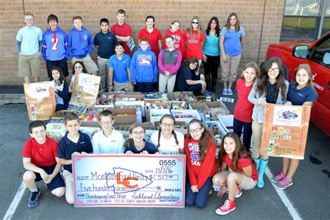 lakeland food pantry lakeland sixth graders collect donations for montdale food