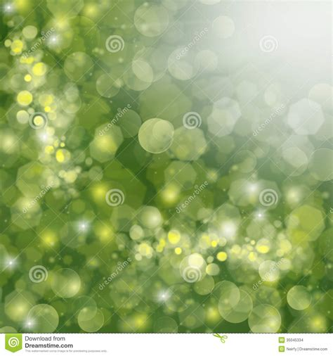 Times Promotes Green Holidays by Green Defocused Background Stock Photo Image