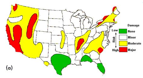 seismic risk map of the united states troubled times usa risk