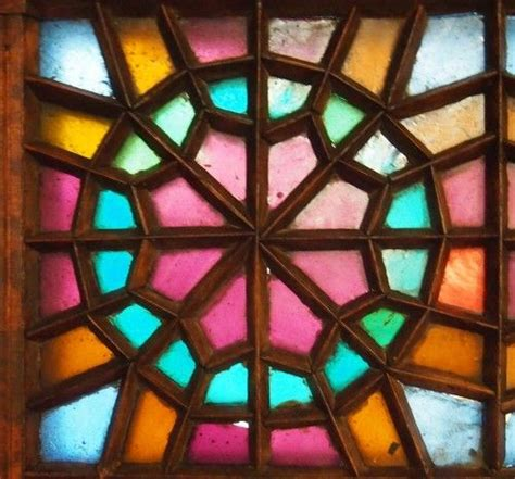 islamic pattern glass wood glass geometry stained glass in iran and