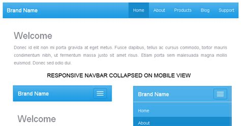 Design Menu Bar In Bootstrap | create responsive navigation menu bar with twitter bootstrap 3