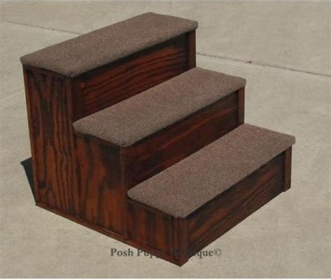 bed stairs 20 quot custom wooden pet 3 step stairs many colors carpet