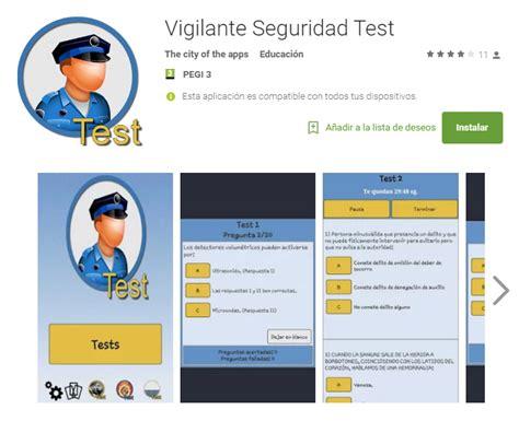 test vigilante de seguridad examen conv 22016 y 32016 una app para prepararte el curso de vigilante de seguridad