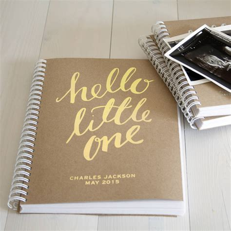 Memory Book - personalised pregnancy new baby memory book by so they