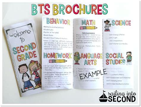 Back To School Meet The Teacher Open House Brochure Editable Classroom Procedures Open Parent Brochure Templates