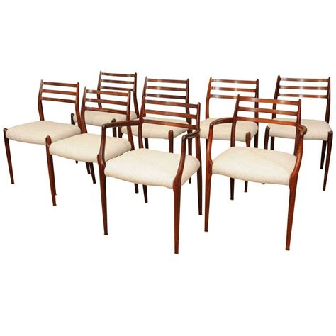 Rosewood Dining Room Furniture Set Of Eight Moller Rosewood Dining Chairs At 1stdibs