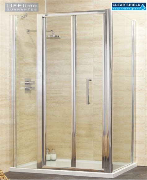 Rival 1000 Bifold Shower Door With Single Infill Panel Bifold Shower Door 900