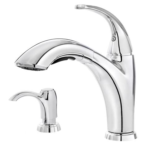 pfister selia kitchen faucet pfister selia polished chrome 1 handle pull out kitchen faucet lowe s canada