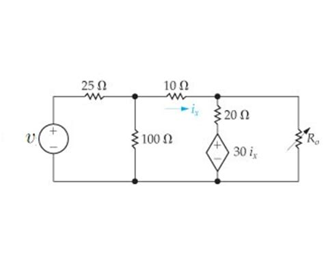 the variable resistor in the circuit is adjusted for maximum power transfer to the variable resistor ro in the circuit is adjus chegg
