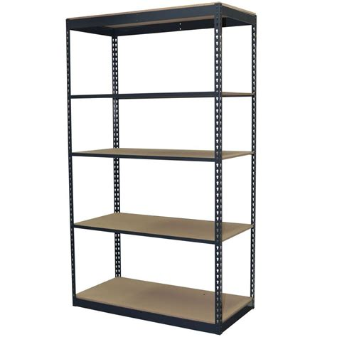 garage shelving units gladiator 73 in h x 77 in w x 24 in d 4 shelf welded steel garage shelving unit gars774xeg
